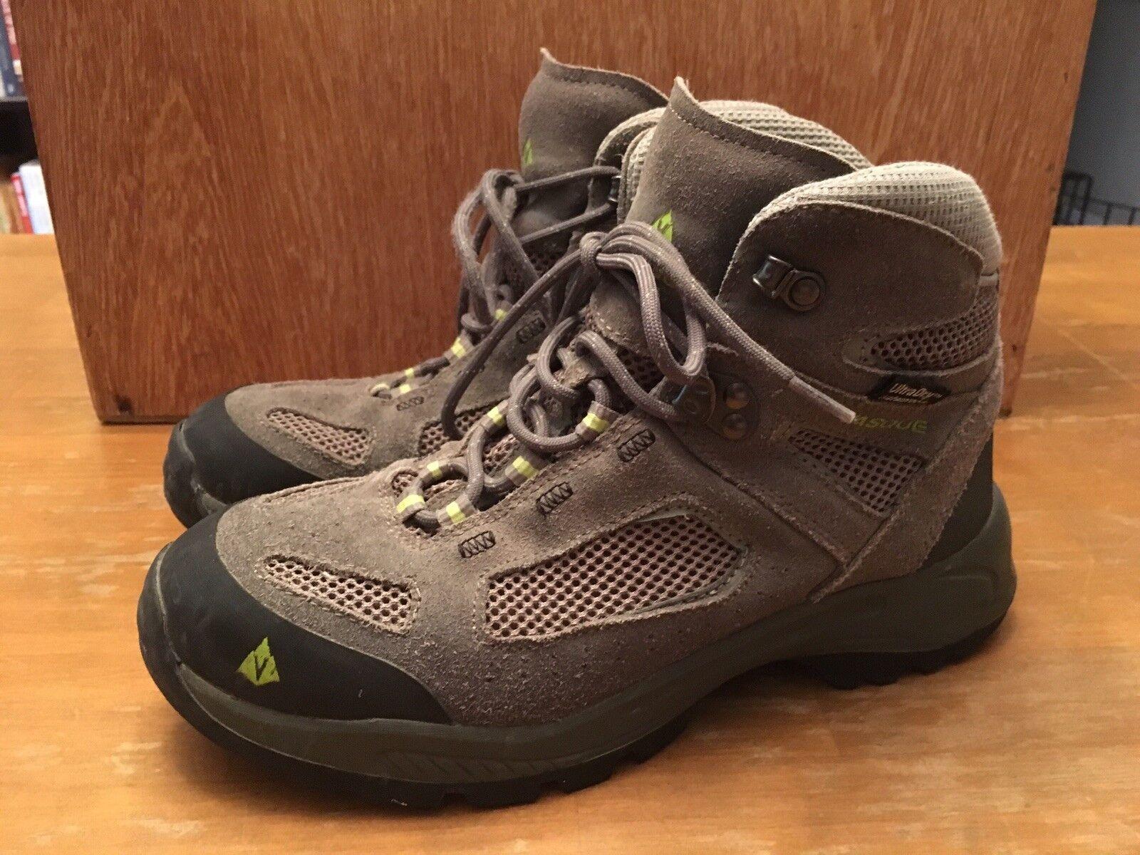Vasque Waterproof Youth WM's Leather Grey Hiking Boots SZ 6M Y EUC