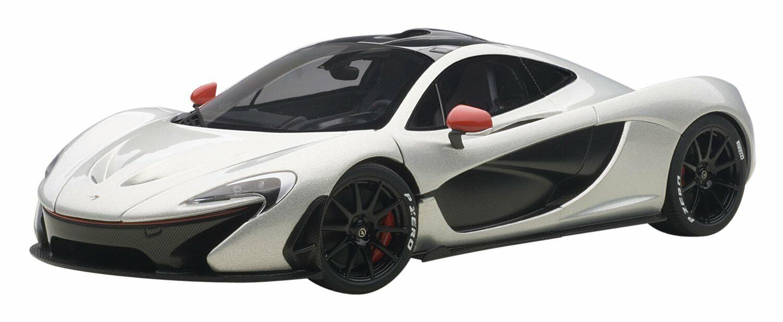 AUTOart 1 18 McLaren P1 (Ice Silber   rot) 76023 NEW from Japan