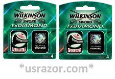 8 Wilkinson FX Diamond blades fit Schick Tracer Razor Cartridges Refills Shaver