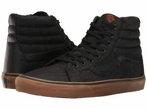 5a4ec5f9f84 Vans SK8 Hi Reissue Denim C L Black Gum Men s Skate High Top Unisex ...