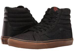 be8b9254f7 Vans SK8 Hi Reissue Denim C L Black Gum Men s Skate High Top Unisex ...