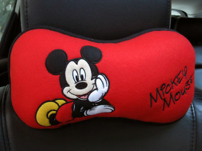 Mickey Mouse Doll Toys Car Accessories Neck Rest Pillow Cushion Seat Cover 1x pc