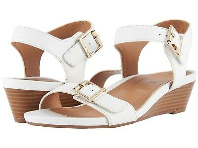 NEW WOMEN VIONIC PORT FRANCES WHITE GOLD SANDALS WEDGE LEATHER AUTHENTIC | eBay