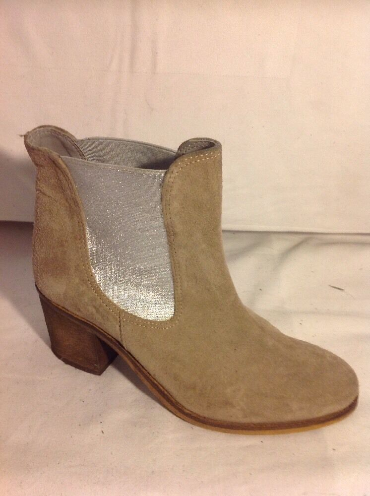 Next Brown Ankle Suede Boots Size 3.5