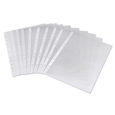 A4 Clear Plastic Punched Pockets//Wallets//Sleeves 200 Pcs