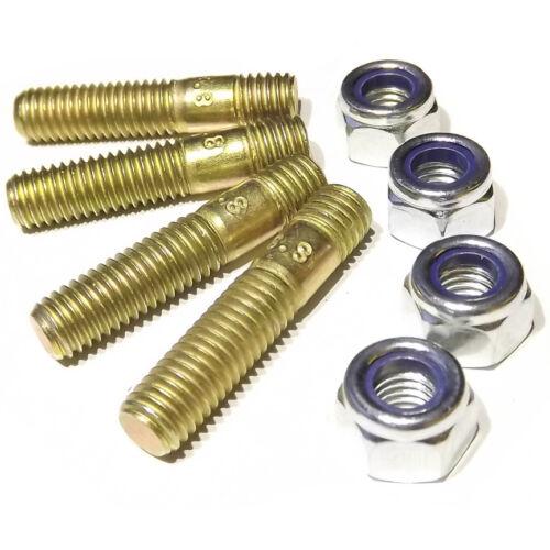 nylon nut Weber//Dellorto//Solex IDF//DCOE//HPMX//DHLA//DRLA//ADDHE M8 studs 30mm