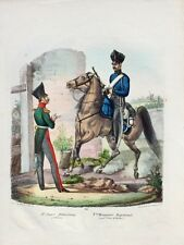 Preußen Militär Dragoner Uniform Karabiner Säbel Jäger-Bataillon Nr. 3 Offizier