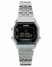 Casio Ladies' Mid-Size Silver Tone Classic Digital Retro Watch LA-680WA-1BDF