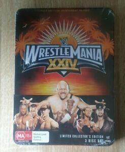 Brand-New-Sealed-Wwe-Wrestlemania-XXIV-DVD-limited-Collectors-Tin-Case-Edition-3