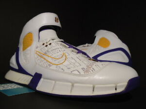 0dc59b9ca0ff9 NIKE AIR ZOOM HUARACHE 2K5 KOBE BRYANT LA MAP LASER LAKERS WHITE ...