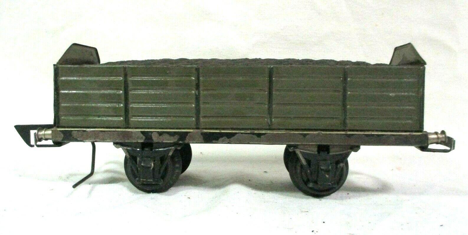 Marklin 1 Gauge Gondola with Coal Pre War Model Railway Train Freight Car B64-38