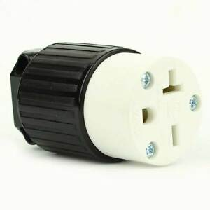 straight electrical receptacle 3 wire 20 amps 250v nema. Black Bedroom Furniture Sets. Home Design Ideas