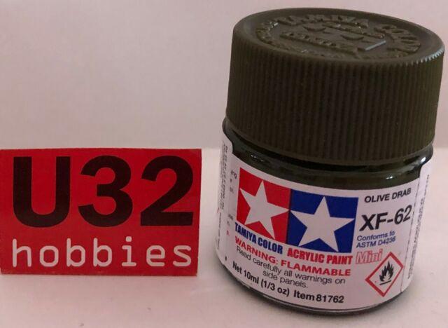 Tamiya 81762 XF-62 Peinture Acrylique Vert Olive Mat Pour Modélisme 10Ml