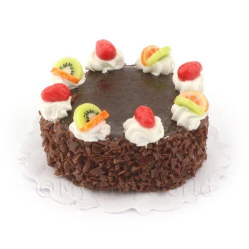 Dolls House Miniature Chocolate Fudge Cake