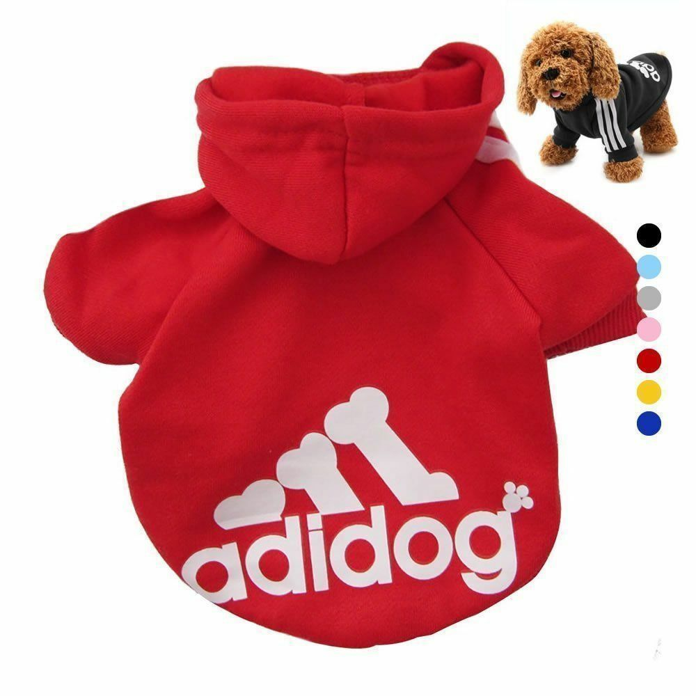 New XS-3XL Pet Winter Coat Dog Warm Clothing Casual Cat Puppy Hoodie Sweater 12