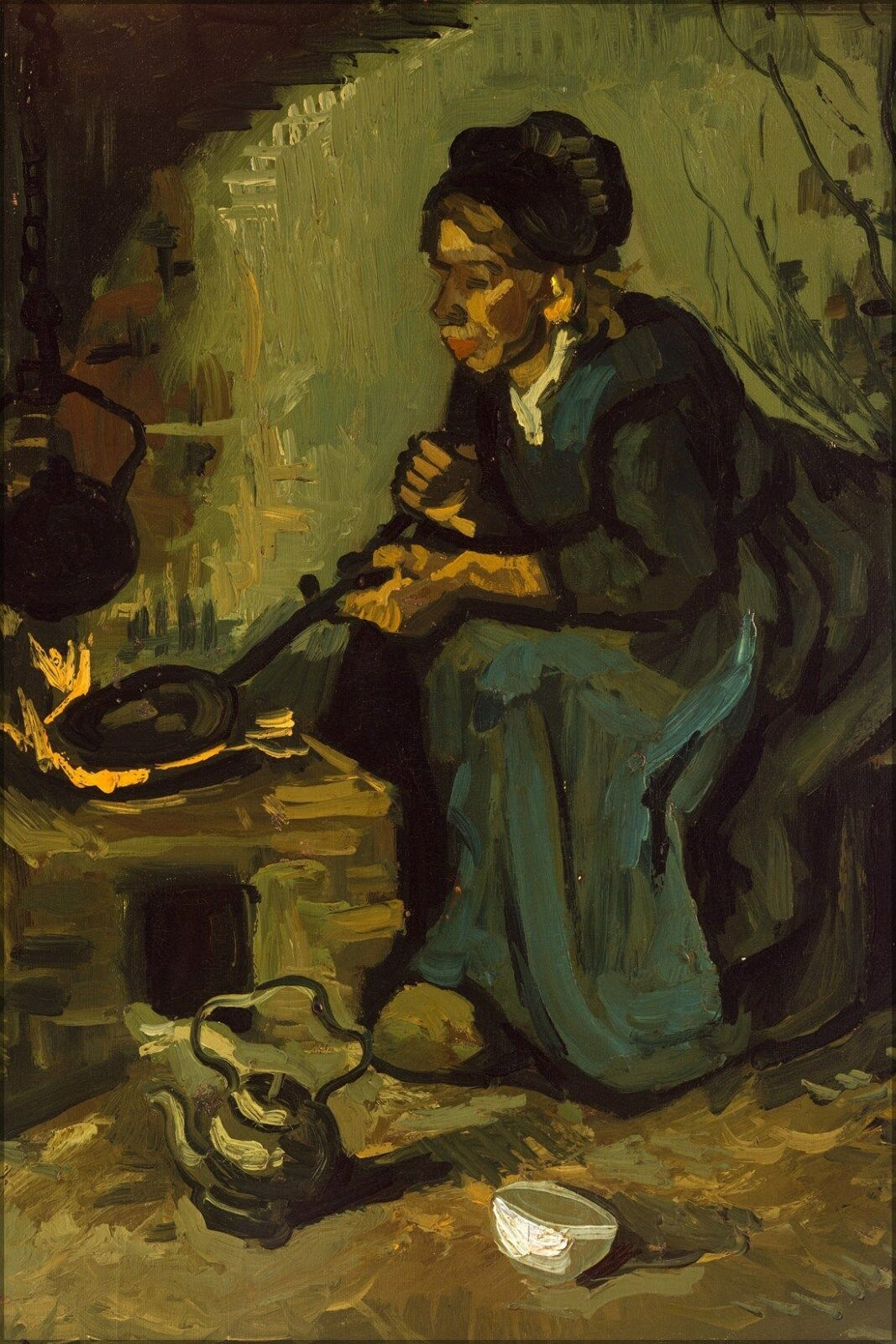 Poster, Many Größen; Peasant Woman Woman Woman Cooking By A Fireplace By Vincent Van Gogh 47c380