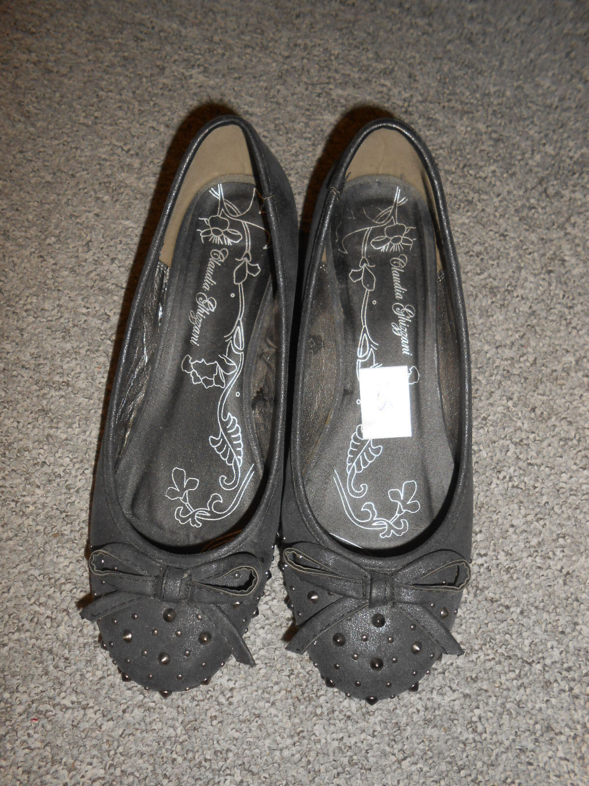 125 Zapatos 55 CLAUDIA GHIZZANI mujer Zapatos 125 de tacón Bailarinas Cuña GRIS b0443b