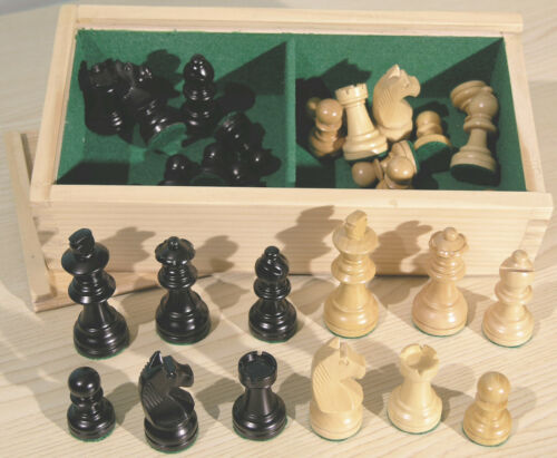 """Weighted Boxwood 2.5/"""" Staunton Chess Pieces 00210"""