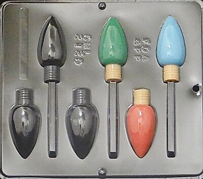 Christmas Bulb Lollipop Chocolate Candy Mold Christmas  2129 NEW