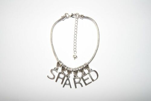 Hotwife /'SHARED/' Euro Anklet Ankle Chain Jewellery Slut Milf Threesome Fetish LL