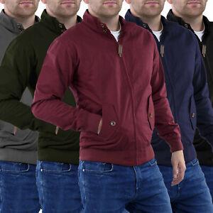 Harrington-Jacket-Mens-New-Stallion-Vintage-Retro-Trendy-Bomber-Zip-Coat-1970-039-s