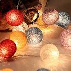 10/20/30 LED Cotton Ball Fairy String Light Wedding Party Bedroom Lamp Decor