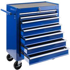 Arebos Werkstattwagen Werkzeugwagen Werkzeug Rollwagen 7 Fächer blau