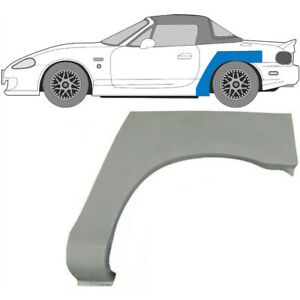Rechts Mazda MX-5 NB 1998-2005 Radlauf Reparaturblech Kotflügel