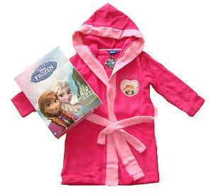 96ae5fe006 Das Bild wird geladen Disney-Frozen-Eiskoenigin-Bademantel-Baumwolle -Geschenkpackung-Gr-98-