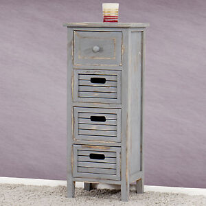 Kommode schmal vintage  Schrank Kommode 74x30x25cm, Shabby-Look, Vintage grau | eBay