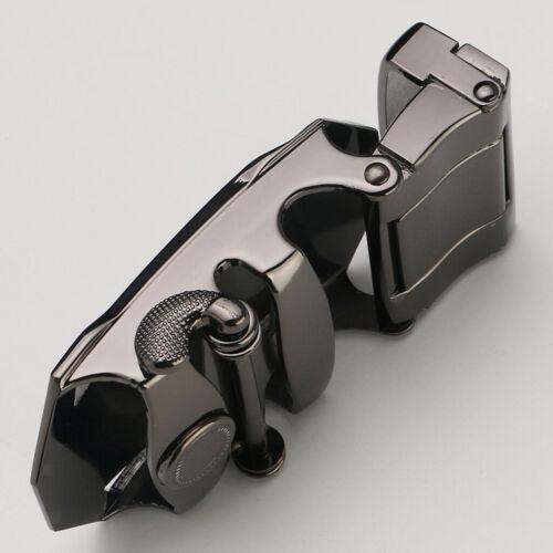 Mens Ratchet Alloy Belt Buckle Replacement Rectangle Automatic Slide Buckles