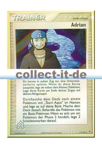 Pokemon EX Team Magma vs Team Aqua 71//95 Adrian Reverse Holo deutsch