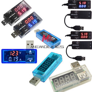 USB OLED LED Battery Charger Power Current Voltage Detector Voltmeter Ammeter