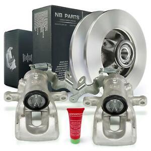 Brake Calipers + Brake Discs Set 268mm Rear Citroen Berlingo Peugeot Partner