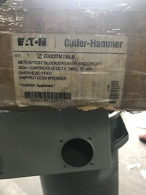 EATON CUTLER HAMMER 1008819CH 200 AMP METER SOCKET 1PH 3 WIRE 4 JAW 3R DP NEW