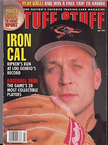 Details About 1995 Tuff Stuff Magazine Sports Card Price Guide Iron Cal Ripken Jr July