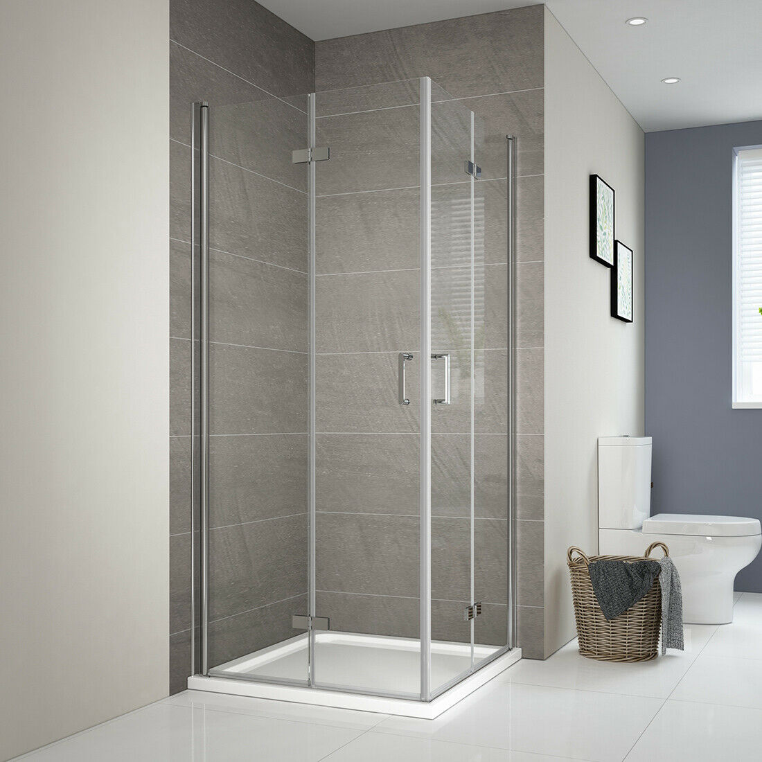 Duschwand Falttür Duschtrennwand Glas Duschabtrennung Dusche Duschkabine 185cm
