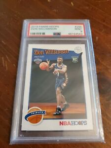 ZION-WILLIAMSON-2019-20-PANINI-HOOPS-TRIBUTE-ROOKIE-CARD-296-RC-PSA-9-MINT
