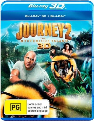1 of 1 - Journey 2 - The Mysterious Island (Blu-ray, 2012, 2-Disc Set) (D145)