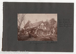 BUCKLAND CT c.1890 Photo Home Dr Calvin W Jacques & Mrs Jacques Gothic Revival
