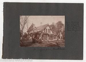 BUCKLAND CT c.1890 Photo Home Dr Calvin W Jacques & Mrs Jacques Gothic Revival