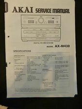 Original Service Manual   Akai Digital Hifi Midi System AX-M430