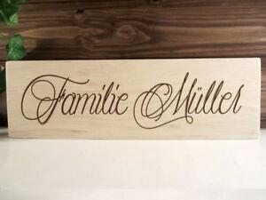 persoenliche-Gravur-Ihr-Name-Familie-Holz-Dekoschild-mit-Wunschgravur-NEU