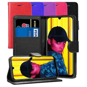 Pour-Huawei-Honor-10-Lite-Case-Premium-Portefeuille-En-Cuir-Flip-Case-Cover-ecran