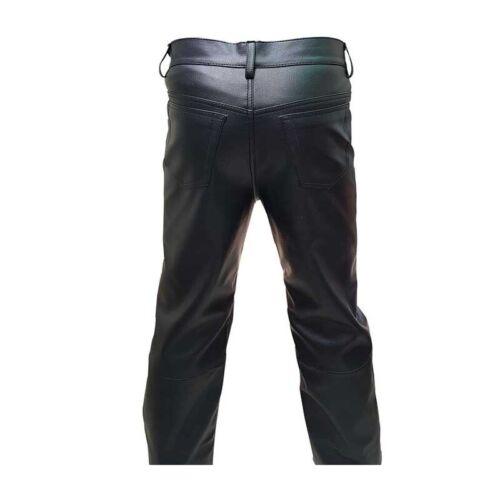 100/% véritable mouton doux et confortable en Cuir 501 Style Pantalon custom made.