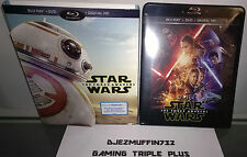 STAR WARS FORCE AWAKENS (BLU-RAY + DVD + DIG HD) BB-8 SLIP COVER