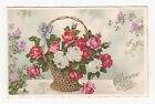 *** Panier de Roses _ Bonne Fête *** Fantaisie +/- 1930 - CPA 0548