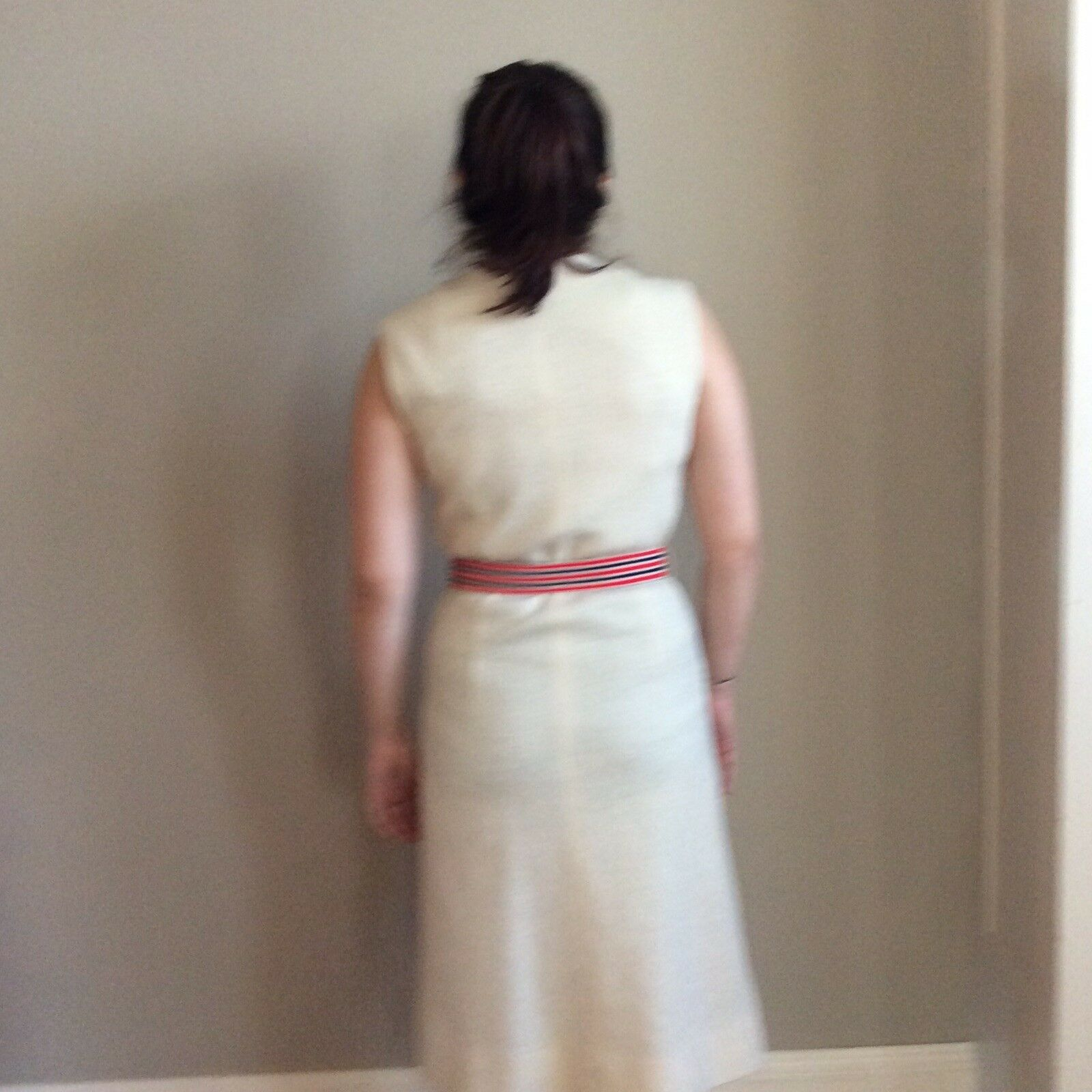 Vintage Sacony Exclusive Button Front Belted Shif… - image 5