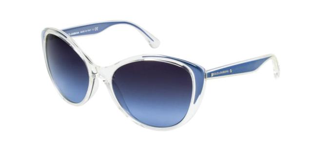Authentic Dolce /& Gabbana 6075M 27118F Sunglasses Crystal//Blue Grad *NEW* 58mm