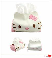 1Pcs Lovely Cartoon Hello Kitty Cat Car Seat Style Tissue Box Car Accessories